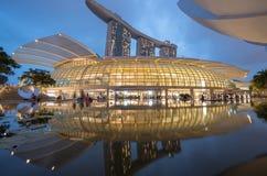 Arenas de la bahía del puerto deportivo, Singapur Imagen de archivo libre de regalías