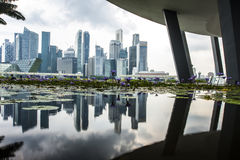 Arenas de la bahía del puerto deportivo, Singapur imagenes de archivo