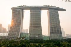 Arenas de la bahía del puerto deportivo, Singapur imagen de archivo