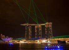 Arenas de la bahía del puerto deportivo, SINGAPUR 14 de junio de 2015: vista bahía sa del puerto deportivo Fotografía de archivo