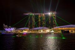 Arenas de la bahía del puerto deportivo, SINGAPUR 14 de junio de 2015: vista bahía sa del puerto deportivo Foto de archivo libre de regalías