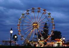 Arenas de oro de la rueda del panorama Imagenes de archivo