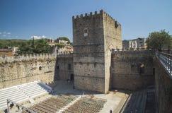 Arenas de San Pedros Schloss Stockbilder