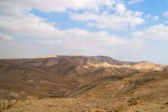 Arenas del desierto caliente de Judean, Israel Foto de archivo libre de regalías