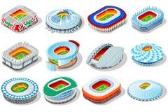 Arenas dos estádios do campeonato do mundo 2018 de Rússia ilustração do vetor