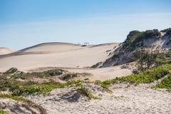Arenas en Joaquina Beach Foto de archivo