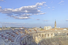 Arenas of Nimes, Roman amphitheater Royalty Free Stock Photo