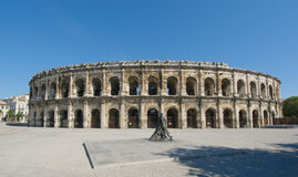 Arenas of Nimes, Roman amphitheater in Nimes Stock Image