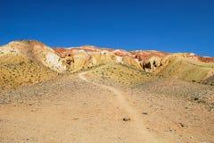 Arenas rojas de Marte Siberia - Altai foto de archivo libre de regalías