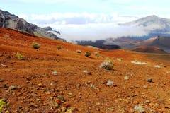 Arenas rojas en el volcán Imagen de archivo