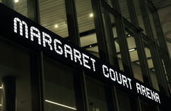 Arene δικαστηρίου Magaret αντισφαίριση Στοκ εικόνες με δικαίωμα ελεύθερης χρήσης