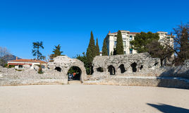 Arenes de Cimiez i Nice, franska Riviera Royaltyfri Fotografi