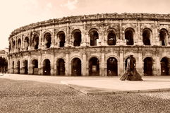 Arenes de Nimes south France Stock Photos