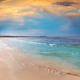 Arenes ES Trenc Majorca ses παραλία σε κάτοικο των Βαλεαρίδων νήσων Στοκ φωτογραφία με δικαίωμα ελεύθερης χρήσης