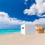 Arenes ES Trenc Majorca ses παραλία σε κάτοικο των Βαλεαρίδων νήσων Στοκ Εικόνα