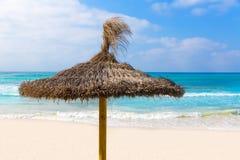 Arenes ES Trenc Majorca ses παραλία σε κάτοικο των Βαλεαρίδων νήσων Στοκ Φωτογραφία