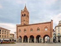 Arengario - historisk byggnad i Monza Fotografering för Bildbyråer