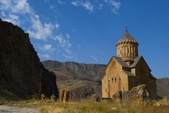 Areni Church Province Vayots Dzor in Armenia. Surb Astvatsatsin of Areni meaning the `Holy Mother of God Church` also Areni Church Armenian is a single-nave two Royalty Free Stock Images