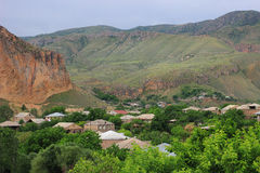 Areni village (Armenia). Areni is a village in the Vayots Dzor Province of Armenia. It is best known for its wine production, although the majority of wine royalty free stock image