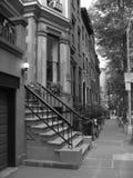 areniscas de color oscuro históricas de Brooklyn Fotos de archivo libres de regalías