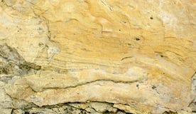 Arenito mergulhado amarelo Fotografia de Stock