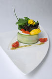 Arenques con el caviar báltico Imagen de archivo