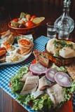 Arenques rusos del menú fotos de archivo libres de regalías