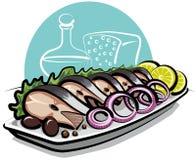 Arenques salados Imagen de archivo libre de regalías