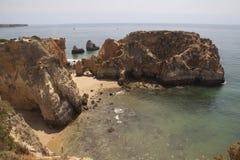 Arens de Portugal praja de joao de Fotos de Stock Royalty Free