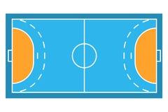 Arens för prövkopiasportfält av handboll Arkivfoto