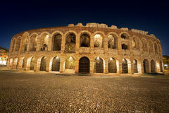 Areny di Verona Noc - Włochy Zdjęcia Royalty Free