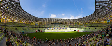 areny Gdansk pge Poland stadium Obraz Stock