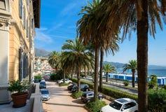 Arenzano jest comune w prowinci genua i miasteczkiem przybrzeżnym, Zdjęcia Stock