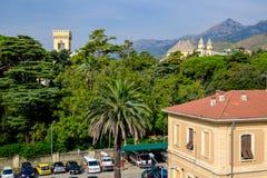 Arenzano jest comune w prowinci genua i miasteczkiem przybrzeżnym, Zdjęcie Stock