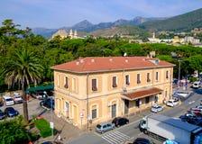 Arenzano jest comune w prowinci genua i miasteczkiem przybrzeżnym, Obrazy Royalty Free