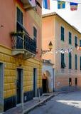 Arenzano jest comune w prowinci genua i miasteczkiem przybrzeżnym, Zdjęcie Royalty Free