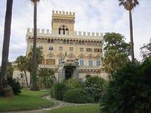 Arenzano urzędu miasta willa Negrotto Cambiaso i sławny park Zdjęcia Royalty Free