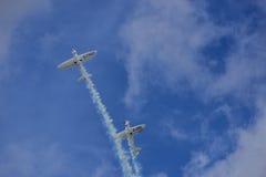 Areobatics dos pilotos de conluio Imagens de Stock