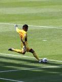 Areola goal kick for PSG Royalty Free Stock Photo