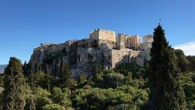 从Areopagus小山上面看见的雅典卫城  股票录像
