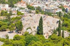 Areopagus στην Αθήνα, Ελλάδα Στοκ Φωτογραφίες
