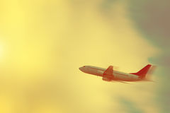 Areoplane in the Sky Royalty Free Stock Images