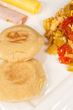 Arepa breakfast Royalty Free Stock Photography
