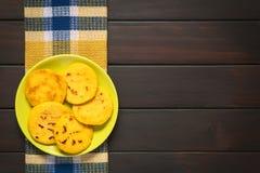 Arepa, Fried Corn Meal Patties Fotografía de archivo libre de regalías
