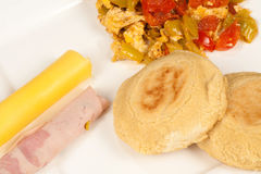 Arepa meal Stock Photos