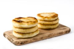 Arepas isolated . Venezuelan typical food