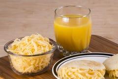 Arepas-Mahlzeit stockbilder