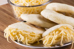 Arepas-Mahlzeit lizenzfreies stockfoto