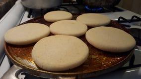 Arepas, tipical τρόφιμα της Βενεζουέλας Στοκ Εικόνες