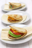 Arepas, venezuelan colombian food. Arepas, venezuelan colombian corn bread sandwich Royalty Free Stock Image